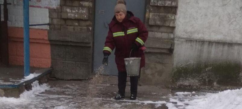 Сильна ожеледиця в Києві